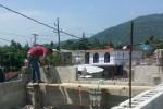 Werk in uitvoering bij buurtschool in Puerto Plata