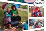 Litouwse kinderen genieten van zomerkamp