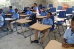 Eerste klaslokaal in gebruik ...