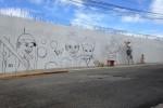 Dag 1 - muurschildering trekt veel bekijks