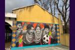 Muurschildering Rechten van het Kind Guatemala